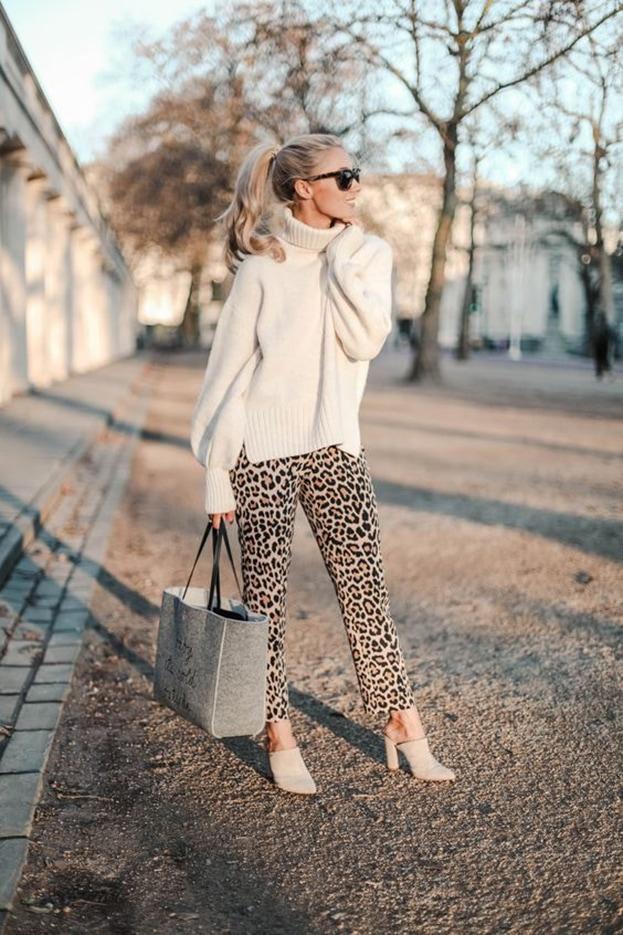 Леопард + белый цвет