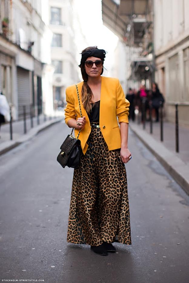 Леопард + яркое пятно