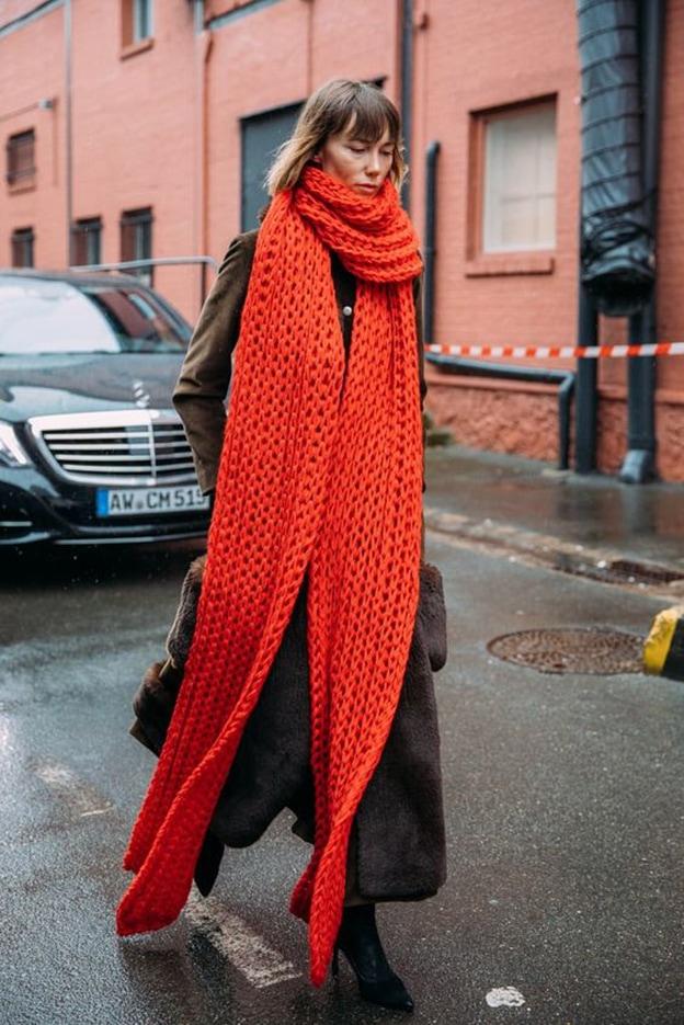 Выбирайте очень-очень длинный шарф